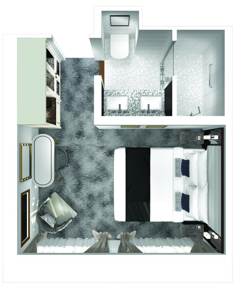 Yacht Suite - Crystal Esprit - Yacht Suite  - Crystal Esprit - Bild 4 - Grundriss Thumb