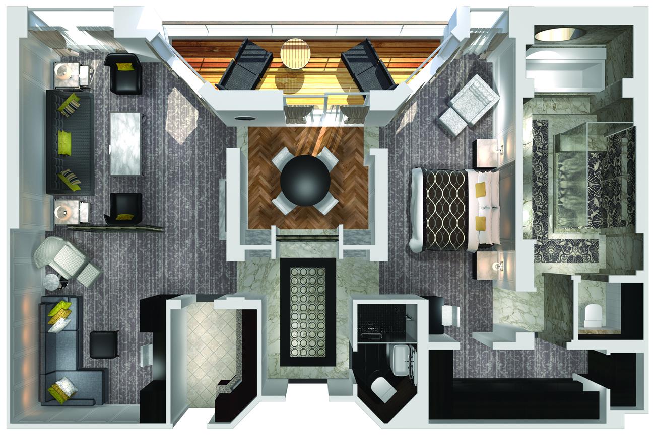 Kristall Penthouse mit Veranda - Crystal Serenity - Kristall Penthouse mit Veranda CP - Crystal Serenity - Bild 5 - Grundriss Thumb
