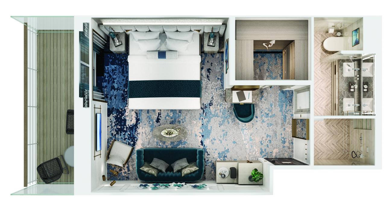 Seabreeze Penthouse mit Veranda - Crystal Serenity - Seabreeze Penthouse mit Veranda SH - Crystal Serenity - Bild 3 - Grundriss Thumb