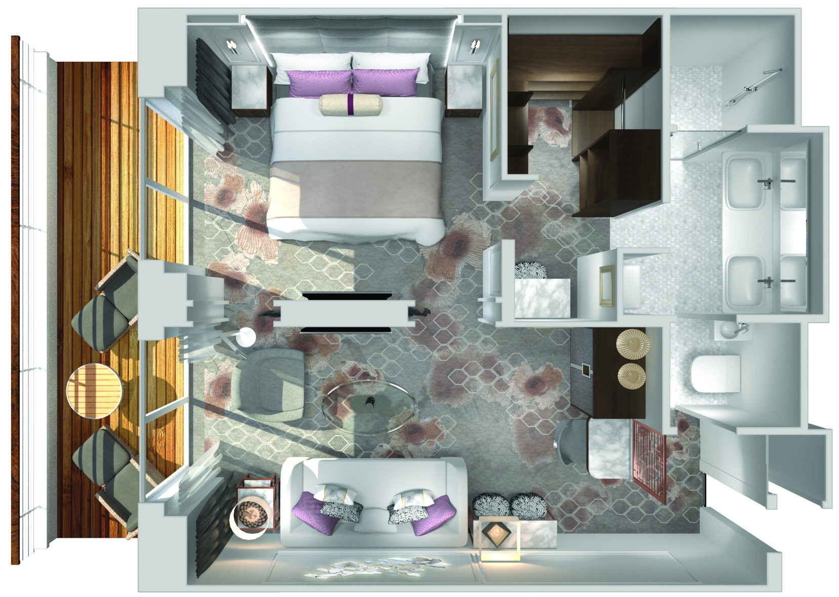 Seabreeze Penthouse Suite - Crystal Symphony - Seabreeze Penthouse Suite SP - Crystal Symphony - Bild 5 - Grundriss Thumb