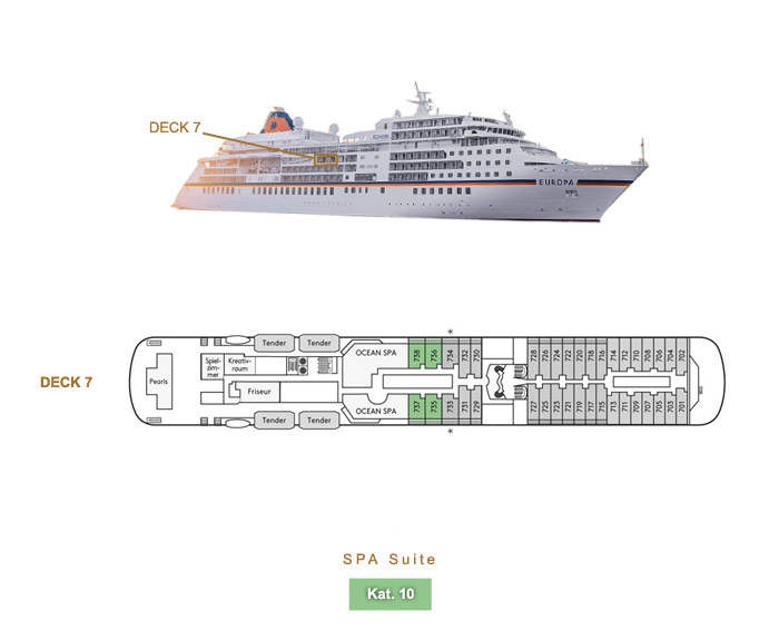SPA Suite 10 - MS EUROPA - Bild 4 - Lage Thumb