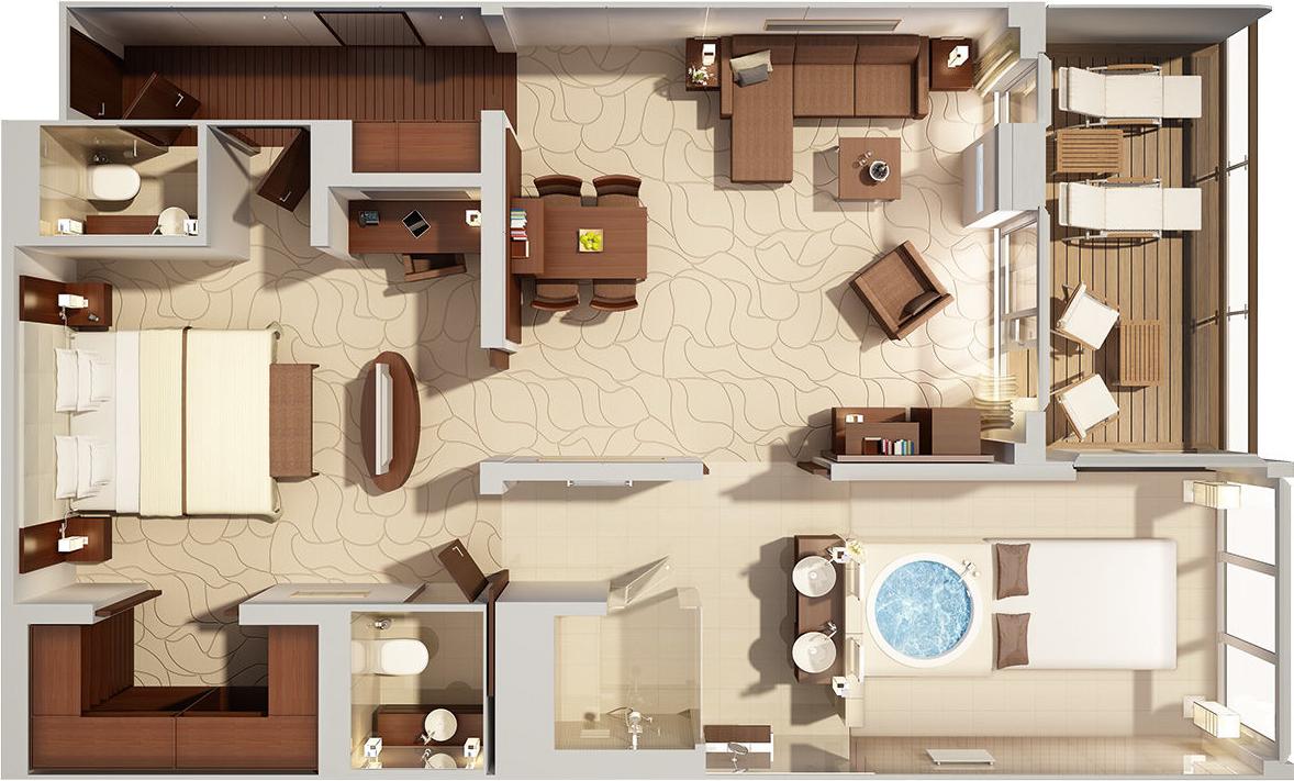 Grand Penthouse Suite - MS EUROPA 2 - Grand Penthouse Suite 10 - MS EUROPA 2 - Bild 3 - Grundriss Thumb
