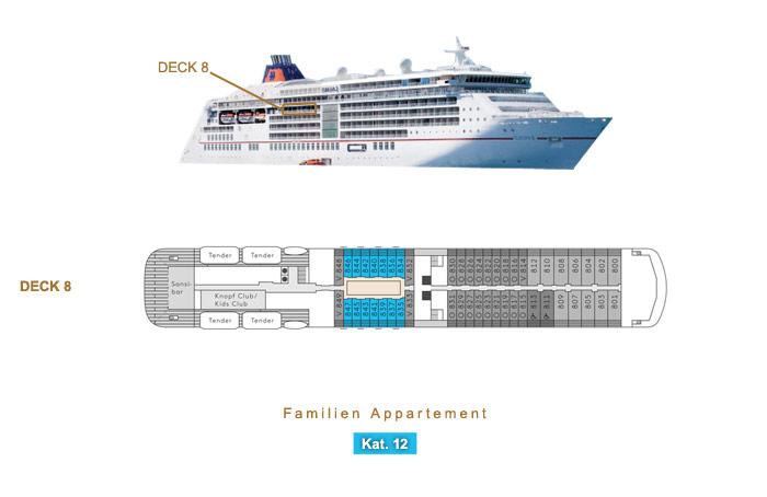 Familien Appartement 12 - MS EUROPA 2 - Bild 4 - Lage Thumb
