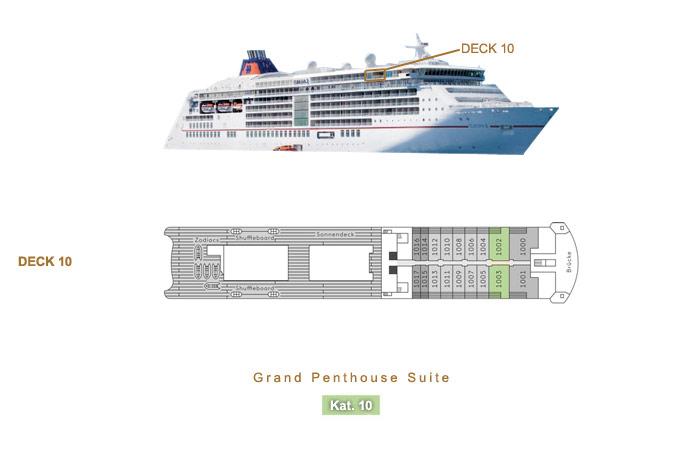Grand Penthouse Suite 10 - MS EUROPA 2 - Bild 3 - Lage Thumb