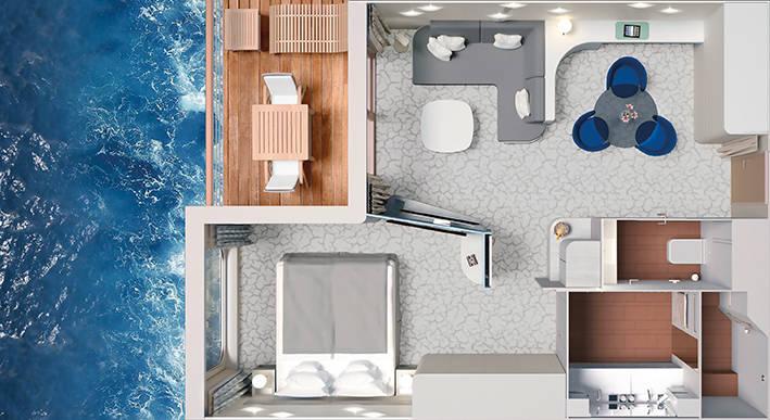 Junior Suite - HANSEATIC inspiration - Junior Suite K09 - HANSEATIC inspiration - Bild 4 - Grundriss Thumb