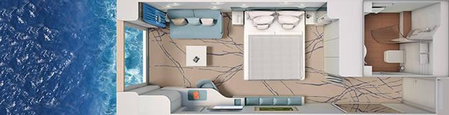 Panoramakabine - HANSEATIC inspiration - Panoramakabine K02 / E02 Solo - HANSEATIC inspiration - Bild 2 - Grundriss Thumb