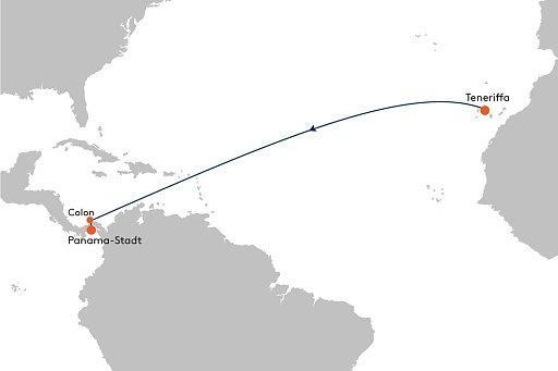 HANSEATIC inspiration INS2161 Atlantische Genie�ertage - Routenbild