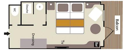 Deluxe BalkonkabineKat DEL - Le Boréal Übersicht