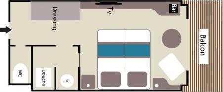 Deluxe BalkonkabineKat DEL - Le Lyrial Übersicht