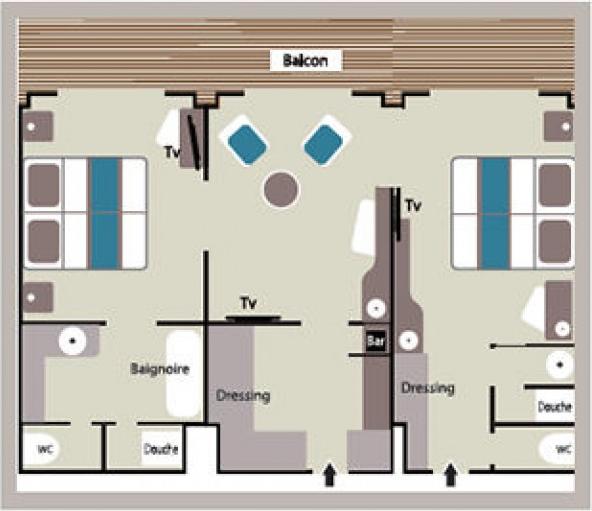 Grand Privilege Suite - Le Lyrial - Grand Privilege Suite GPS - Le Lyrial - Bild 3 - Grundriss Thumb