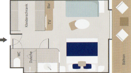 Deluxe Suite - Le Bellot - Deluxe Suite DS3 / DS4 / DS5 / DS6 - Le Bellot - Bild 2 - Grundriss Thumb