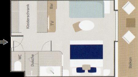 Deluxe Suite - Le Bougainville - Deluxe Suite DS3 / DS4 / DS5 / DS6 - Le Bougainville - Bild 2 - Grundriss Thumb