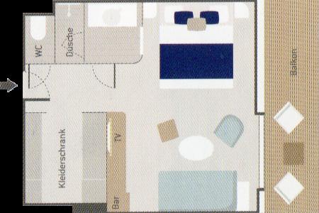 Privilege Suite - Le Bougainville - Privilege Suite PV5 / PV6 - Le Bougainville - Bild 2 - Grundriss Thumb