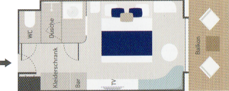 Prestige / Deluxekabine - Le Champlain - Prestige / Deluxekabine PR4 / PR5 / PR6 / DEL - Le Champlain - Bild 2 - Grundriss Thumb