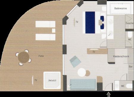 Owner's Suite - Le Champlain - Owner's Suite SA - Le Champlain - Bild 2 - Grundriss Thumb