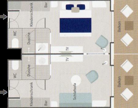 Prestige Suite - Le Champlain - Prestige Suite PS5 / PS6 - Le Champlain - Bild 2 - Grundriss Thumb