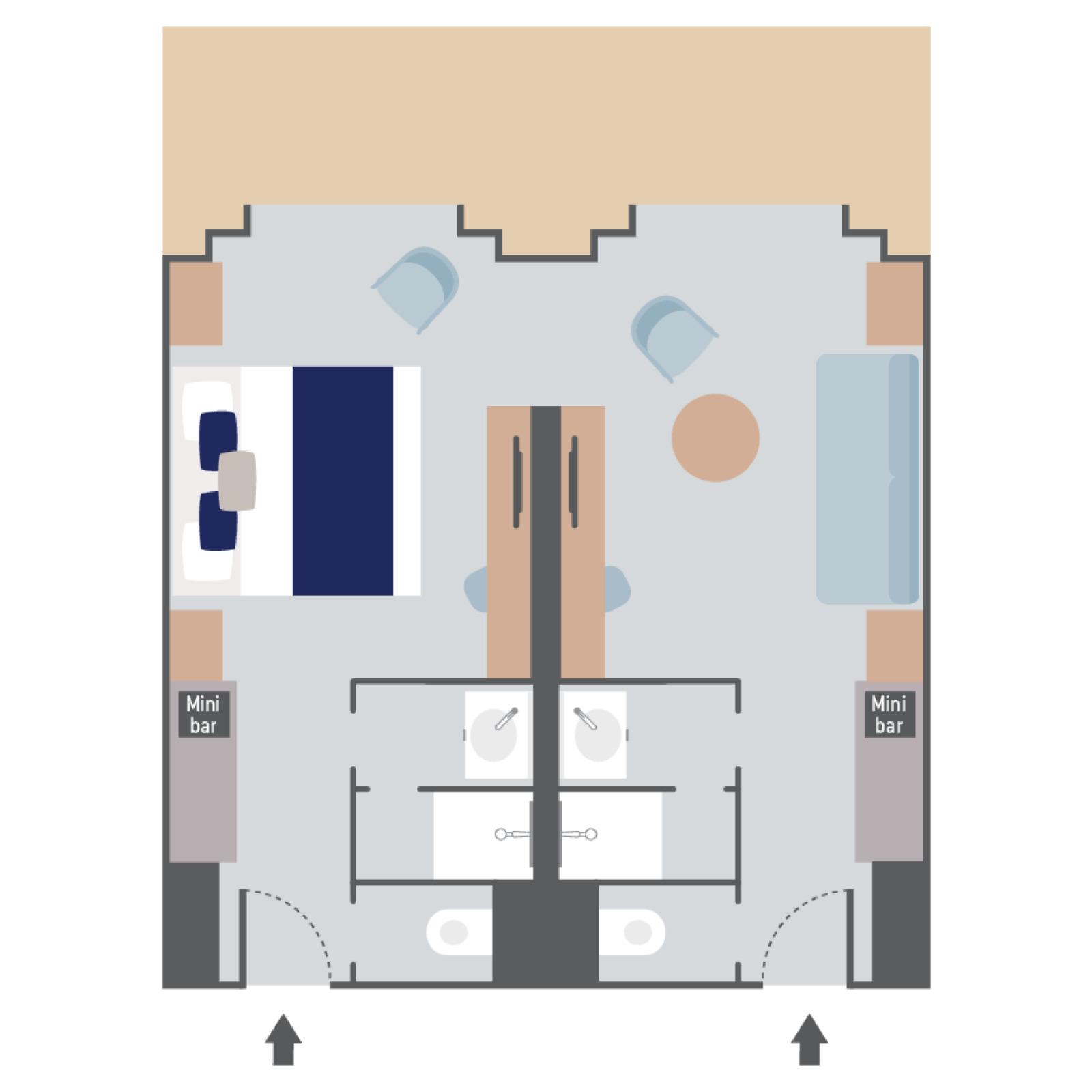 Prestige Suite - Le Commandant Charcot - Prestige Suite PS7 / PS8 - Le Commandant Charcot - Bild 2 - Grundriss Thumb