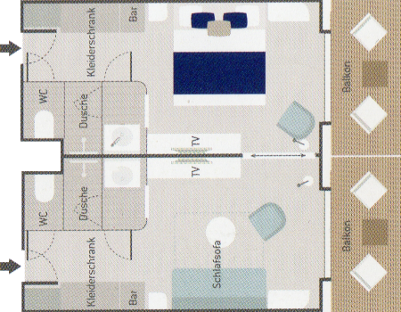 Prestige Suite - Le Laperouse - Prestige Suite PS5 / PS6 - Le Laperouse - Bild 2 - Grundriss Thumb