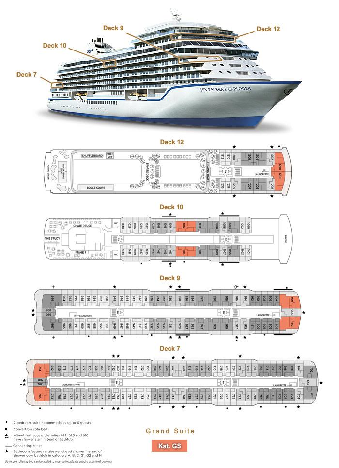 Grand Suite GS - Seven Seas Explorer - Bild 5 - Lage Thumb