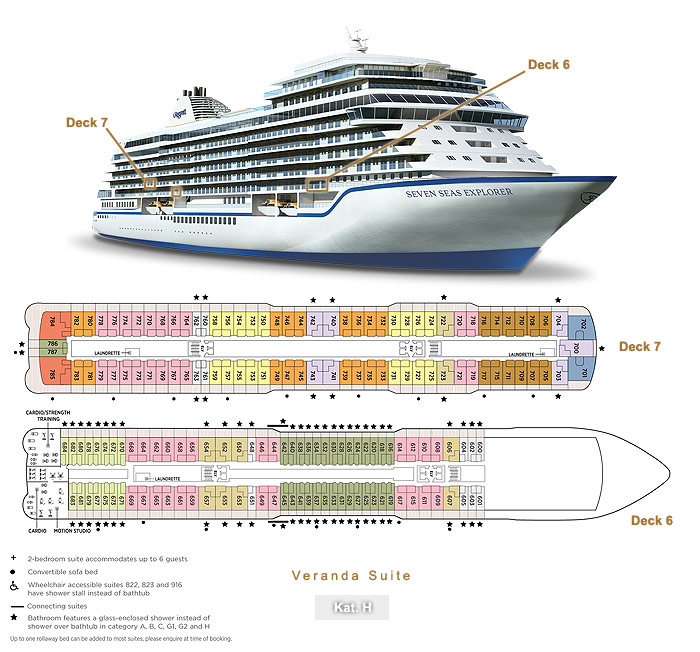 Veranda Suite H - Seven Seas Explorer - Bild 3 - Lage Thumb