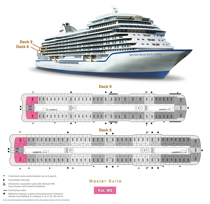 Master Suite MS - Seven Seas Explorer - Bild 5 - Lage Thumb