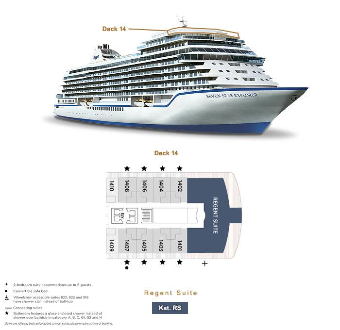 Regent Suite RS - Seven Seas Explorer - Bild 8 - Lage Thumb