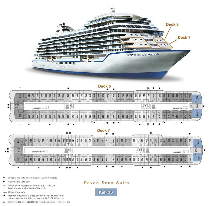 Seven Seas Suite SS1 / SS2 - Seven Seas Explorer - Bild 4 - Lage Thumb