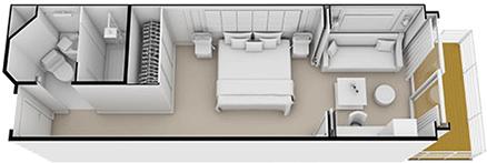 Veranda Suite - Seven Seas Explorer - Veranda Suite H - Seven Seas Explorer - Bild 3 - Grundriss Thumb