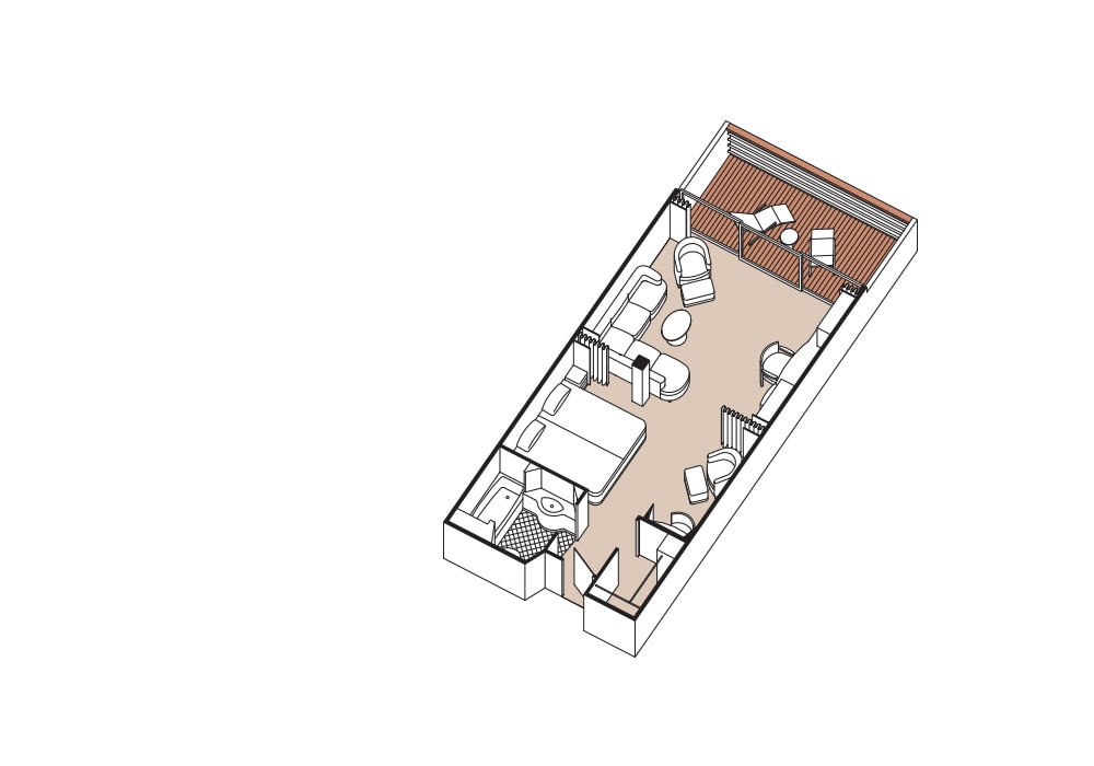 Penthouse Suite - Seven Seas Mariner - Penthouse Suite A / B / C - Seven Seas Mariner - Bild 4 - Grundriss Thumb