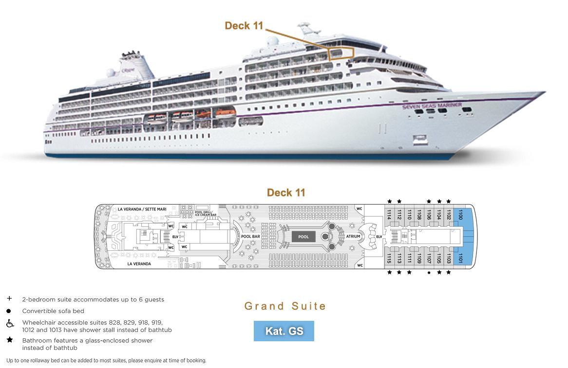 Grand Suite GS - Seven Seas Mariner - Bild 4 - Lage Thumb
