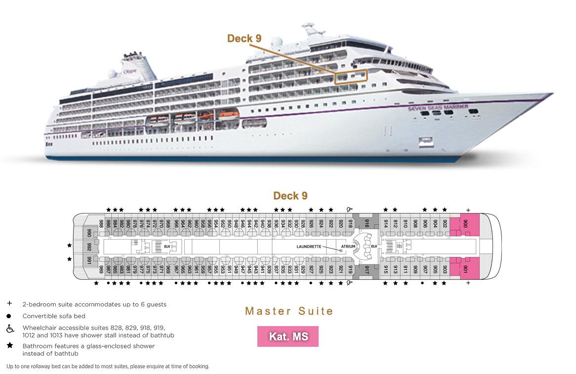 Master Suite MS - Seven Seas Mariner - Bild 5 - Lage Thumb