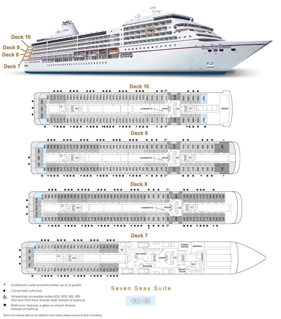 Seven Seas Suite / Bug SS - Seven Seas Mariner - Bild 5 - Lage Thumb