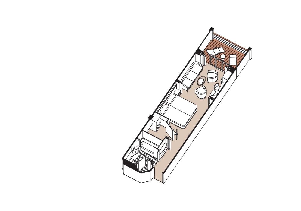 Penthouse Suite - Seven Seas Navigator - Penthouse Suite A / B / C - Seven Seas Navigator - Bild 3 - Grundriss Thumb