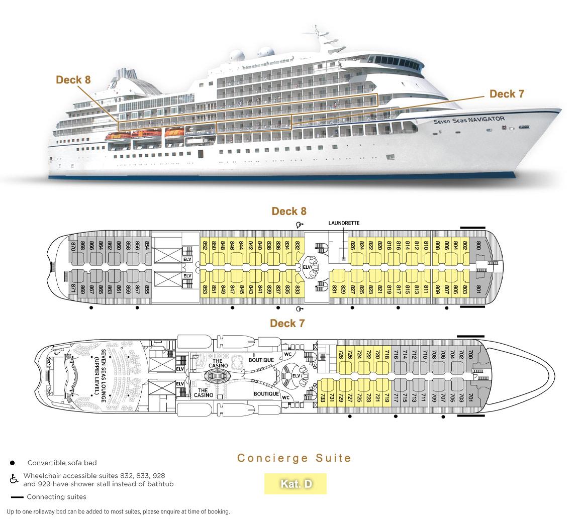 Concierge Suite D - Seven Seas Navigator - Bild 3 - Lage Thumb