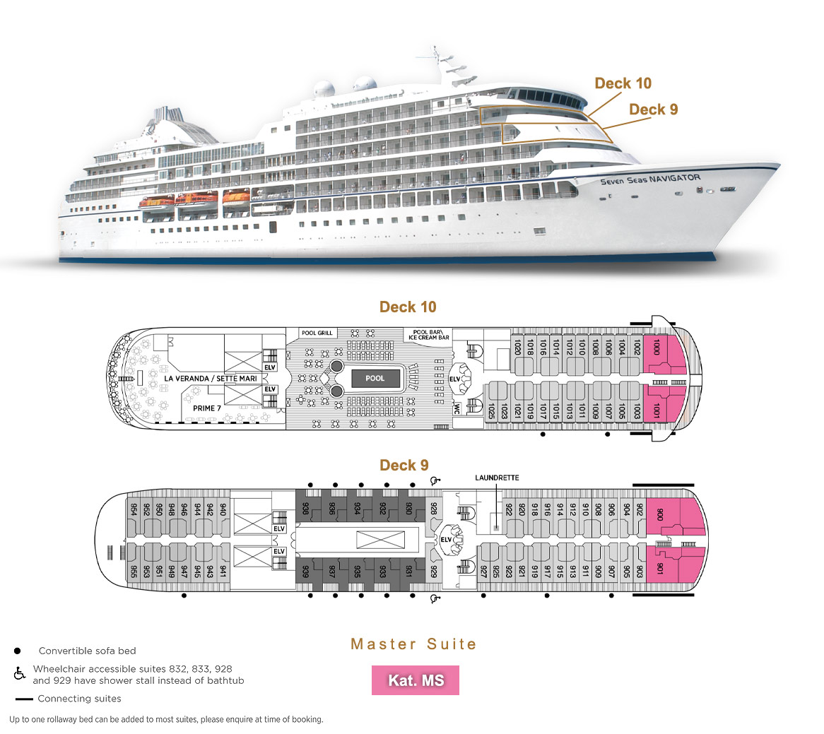 Master Suite MS - Seven Seas Navigator - Bild 7 - Lage Thumb