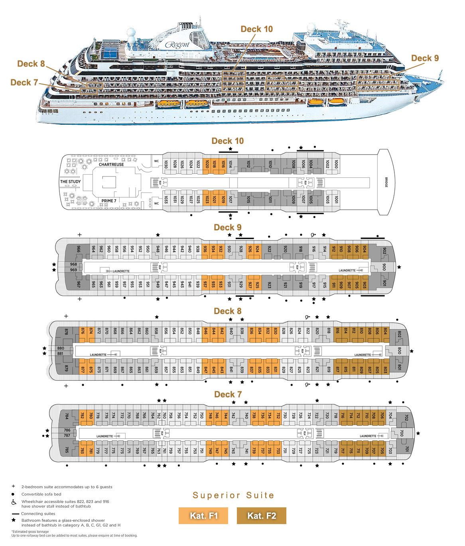 Superior Suite F1 / F2 - Seven Seas Splendor - Bild 5 - Lage Thumb
