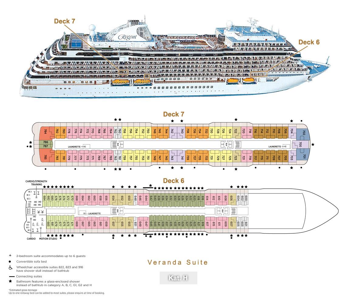 Veranda Suite H - Seven Seas Splendor - Bild 4 - Lage Thumb