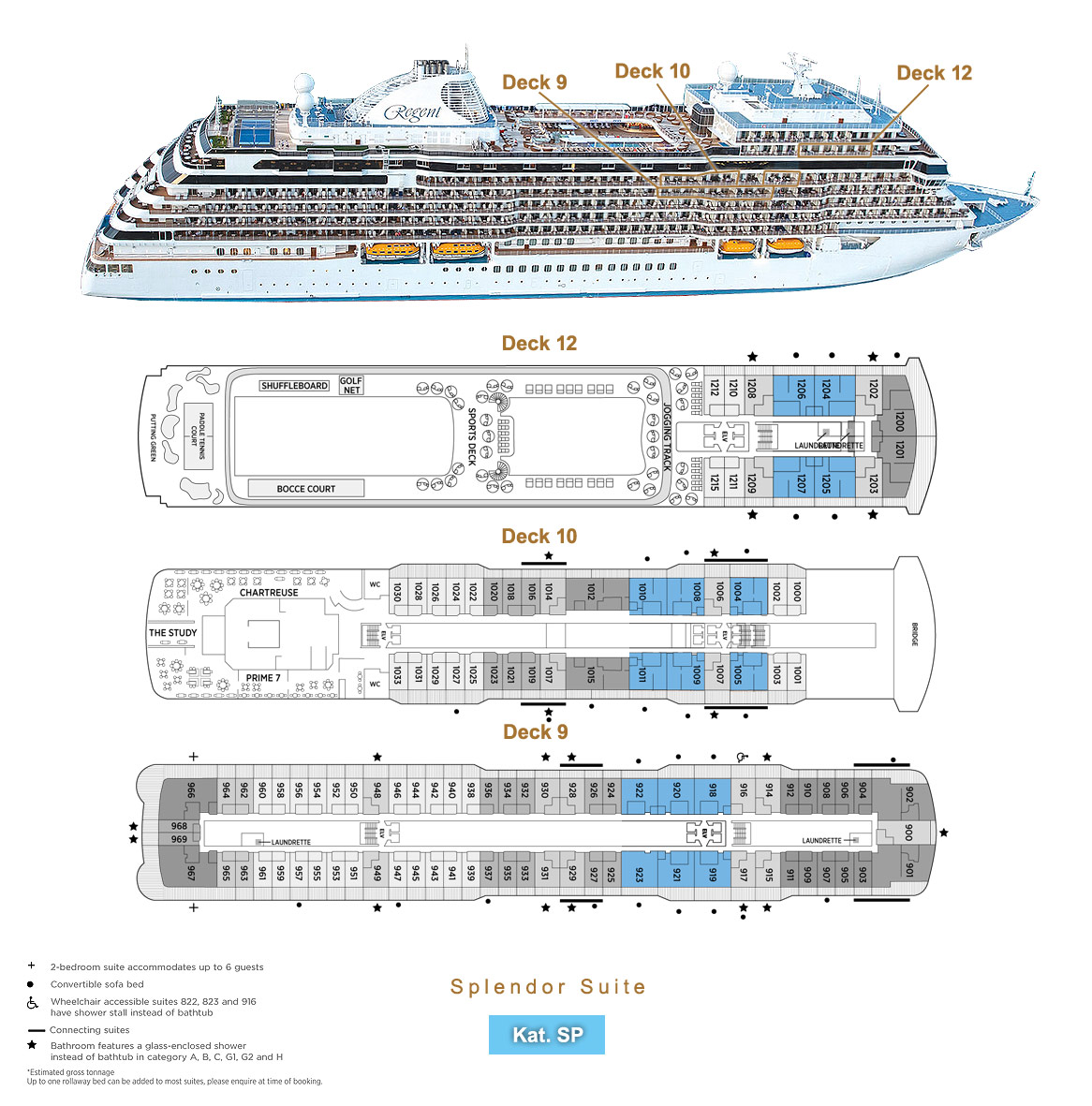 Splendor Suite SP - Seven Seas Splendor - Bild 5 - Lage Thumb