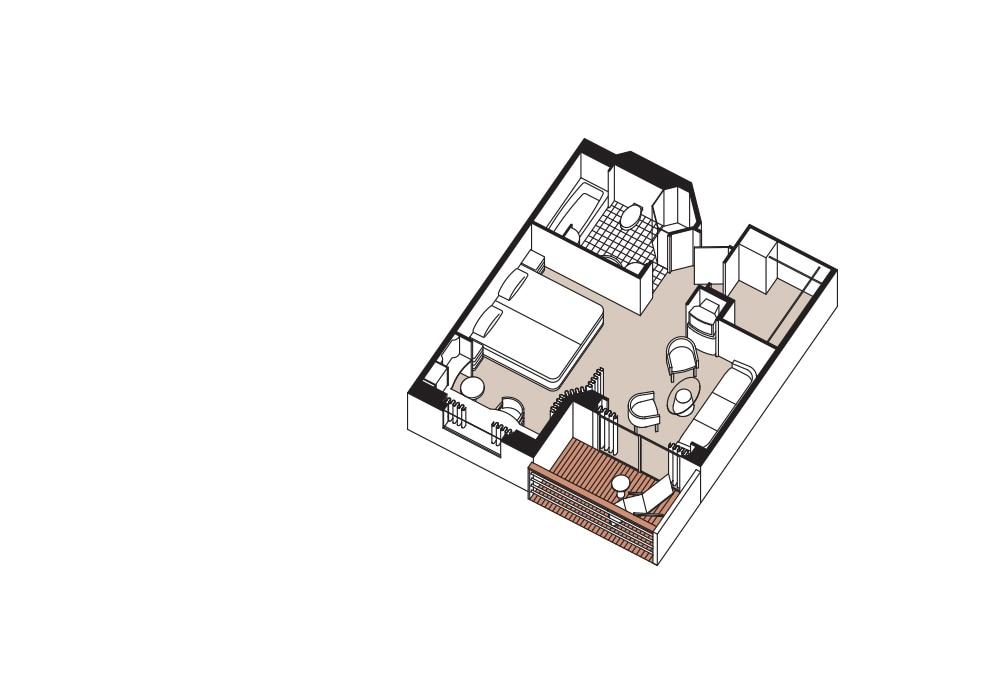 Penthouse Suite - Seven Seas Voyager - Penthouse Suite A / B / C - Seven Seas Voyager - Bild 4 - Grundriss Thumb