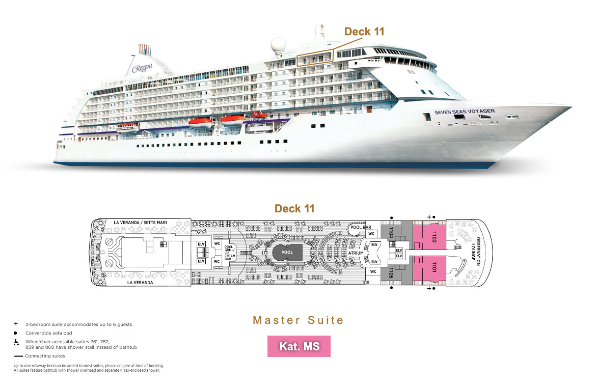 Master Suite MS - Seven Seas Voyager - Bild 6 - Lage Thumb
