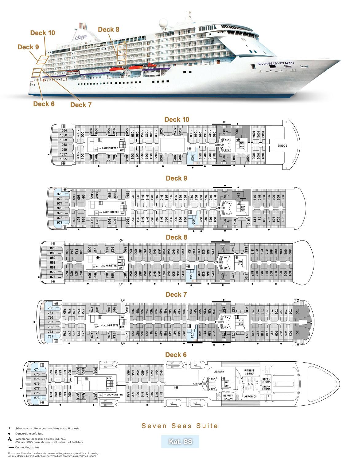 Seven Seas Suite SS - Seven Seas Voyager - Bild 5 - Lage Thumb