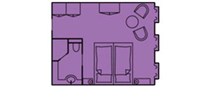 Deluxe Außenkabine - Sea Cloud II - Deluxe Außenkabine D - Sea Cloud II - Bild 2 - Grundriss Thumb