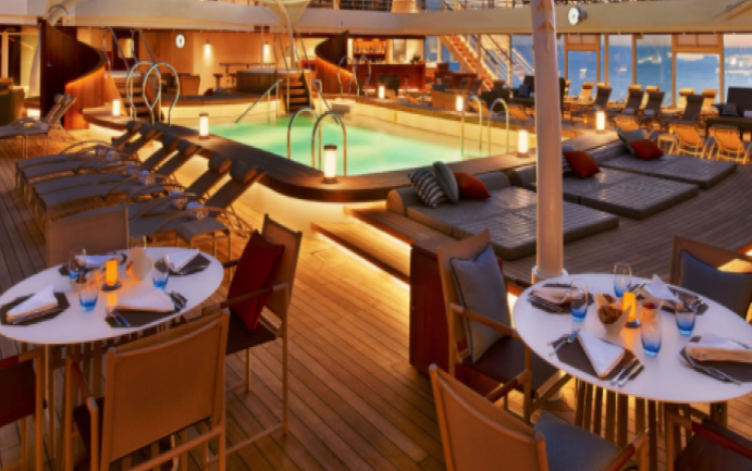 The Patio / Earth and Ocean - Seabourn Sojourn