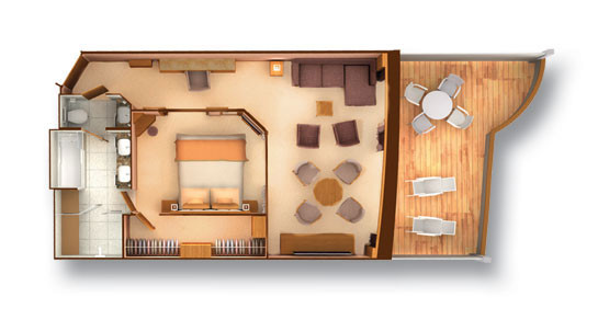 Penthouse Spa Suite - Seabourn Odyssey - Penthouse Spa Suite PS - Seabourn Odyssey - Bild 2 - Grundriss Thumb