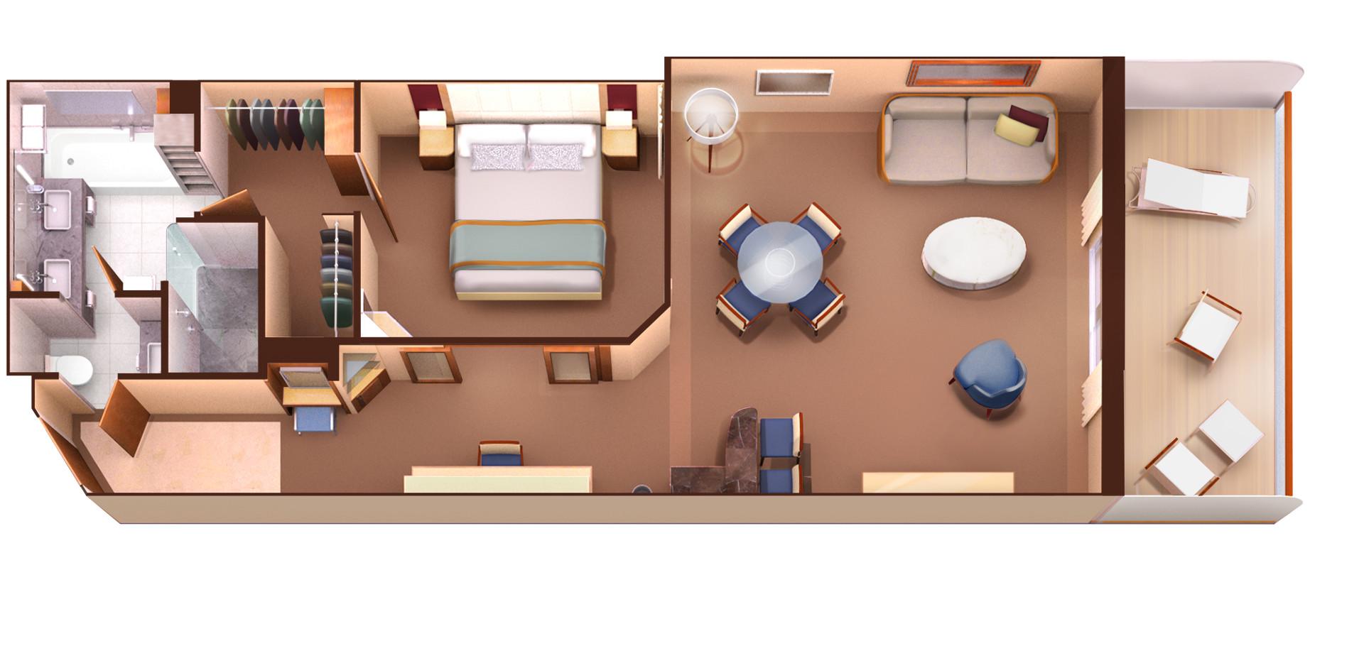 Penthouse Spa SuiteKat PS - Seabourn Ovation Übersicht