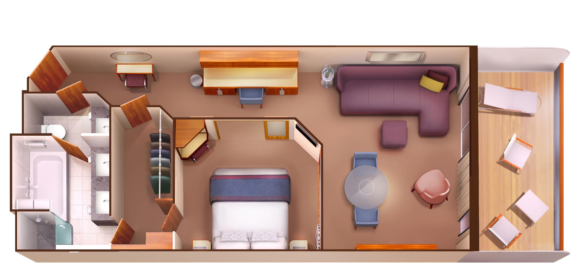 Penthouse Suite - Seabourn Encore - Penthouse Suite PH - Seabourn Encore - Bild 5 - Grundriss Thumb