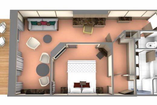 Penthouse SuiteKat PH - Seabourn Venture Übersicht