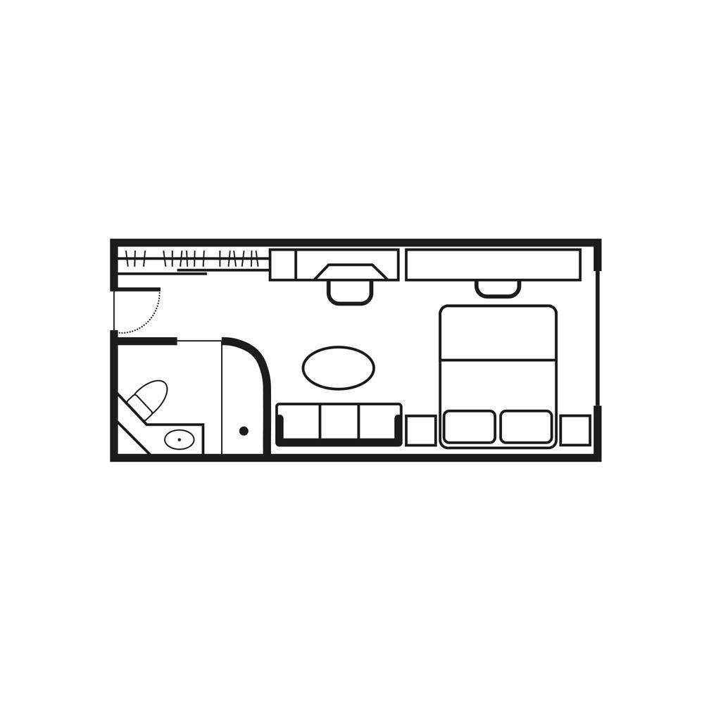 Yacht Club StateroomKat GTY / Y2 / Y3 / Y4 - Sea Dream I Übersicht