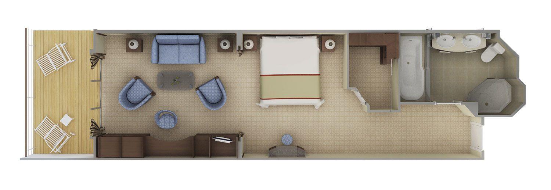 Superior Veranda Suite - Silver Shadow - Superior Veranda Suite B2 - Silver Shadow - Bild 3 - Grundriss Thumb
